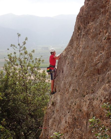 King's Ely students on their climbing trip to Spain.