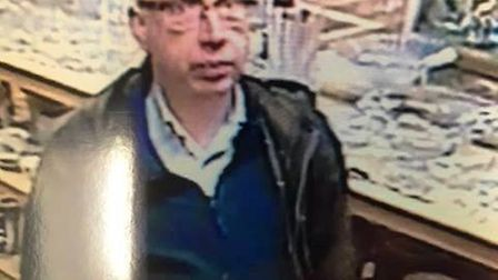 Police would like to speak to this man in connection with a theft from an antiques shop in Waterside