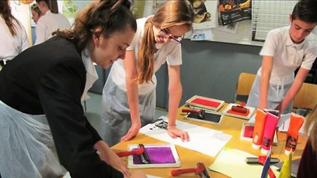 Cromwell Community College students taking part in the 'Arts Award' programme.