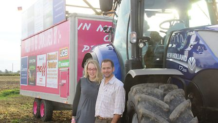Charity tractor ride by Alyson and Neil Clark in memory of their daughter Mikayla who died earlier t