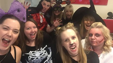 Neaves and Neat Employment Services staff in their Halloween fancy dress.