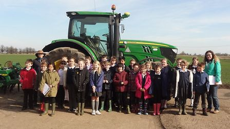 Ouse Washes Nature Friendly Zone. Pictured: Pictured: Lionel Walden school, Year 4 with Sarah Coulso