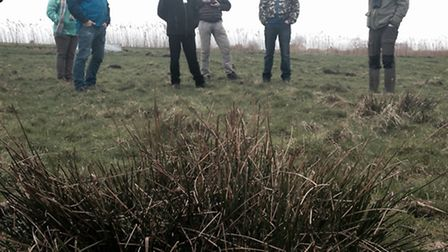 Ouse Washes Nature Friendly Zone. Pictured: Ouse Washes NFZ Farmers meeting at WWT Welney, February