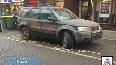4x4 seized in Ely by police for motoring offences