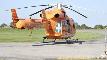 The Magpas air ambulance was called after a man was crushed by timber in Wisbech.