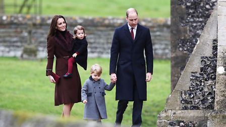GENERIC CAPTION The Duke and Duchess of Cambridge arrive to attend the morning Christmas Day service