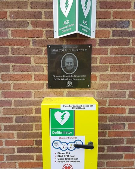 Latest defibrillators in Whittlesey - one for Malcolm Bean