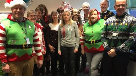 Police and Crime Commissioner team wearing Christmas jumpers to raise money for Save the Children ch