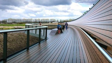 Ely Bypass. A new walkway and pedestrian route.