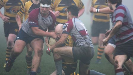 Action from Ely Tigers' 34-10 success over West Norfolk. Photo: Steve Wells