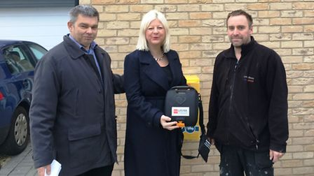 The 26th defibrillator is installed on the side of a house at 118 Wisbech Road, March thanks to mayo