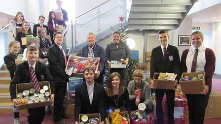Cromwell Community College, Chatteris collected for the foodbank