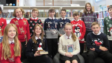 Students at Cromwell Community College raised £400 for Children In Need thanks to a Christmas jumper