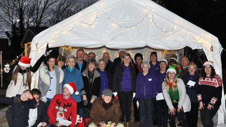 The Mandalay Park team's Christmasy present appeal and fundraiser.