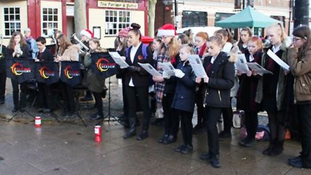 Neale-Wade Academy students sing carols in March town centre