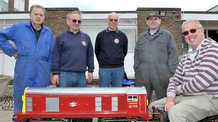 Members of Ely Model Railway Club at an exhibition earlier this year.