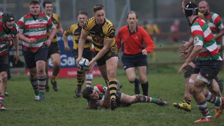 Matt McCarthy bagged a hat-trick as Ely Tigers hammered Ilford Wanderers 57-0 last weekend. Photos: