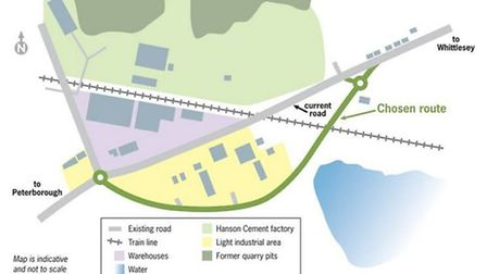 The route chosen bypasses the existing level crossing to the south. It involves the creation of two
