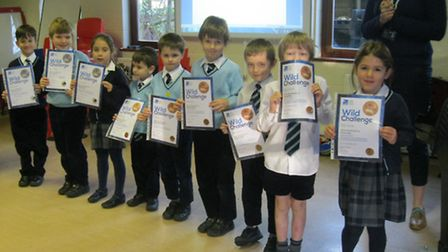 Pupils at King's Ely Acremont have been taking part in the RSPB's Wildlife Challenge scheme.