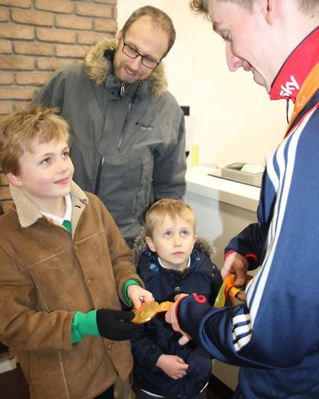 Paralympian Louis Rolfe opens newly refitted Spectacular Opticians in Ely