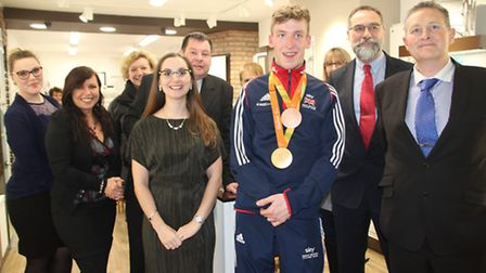 Paralympian Louise Rolfe Officially opens newly refitted Spectacular Opticians in Ely