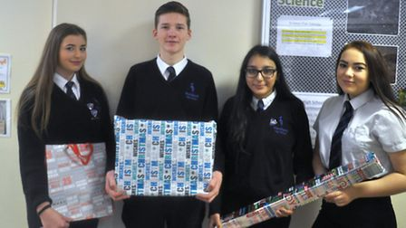 Marshland High School students deliver food hampers to the Ferry Project