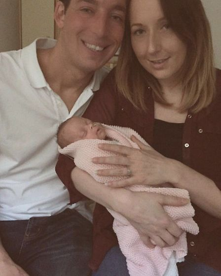 Peter Whittlesey and Jade Peachey with baby Effie