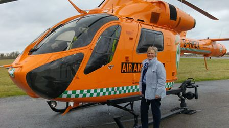 Sally Crosbie at a special event arranged by the Magpas Air Ambulance in Cambridge. Pic: Magpas Air