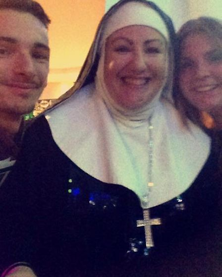 Selfie with one of the nuns.
