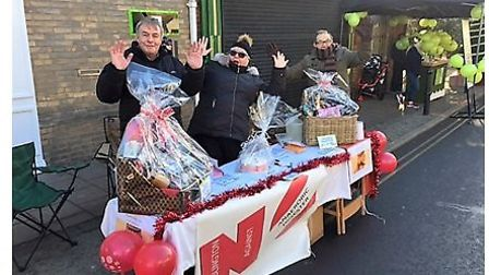 Wimblington Against the Anaerobic Digester hold a stall at the March Christmas market