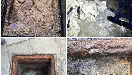 Fat or grease poured down sink holes can cause blocked drains warns Anglian Water