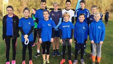 March Athletics Club Juniors, who finished in seventh in the latest instalment of the Frostbite Frie