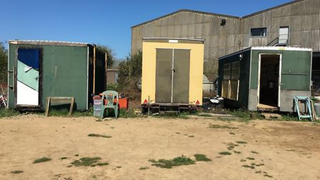 """The Isle of Ely Rowing Club's current clubhouse - which members say is """"beyond repair."""""""
