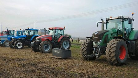 A host of tractors and other agricultural machinery went on sale following the retirement of Brian H