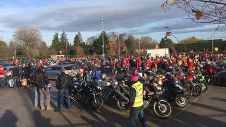 Hundreds of bikers took part in the toy run.