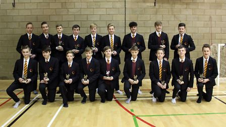 The Neale-Wade Academy under 15 rugby team.