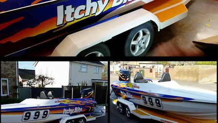 Alan Fielding's boat which was stolen from Manea on Sunday.