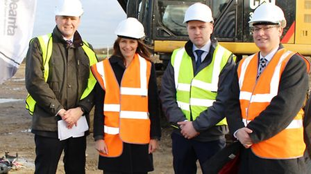 Harvey Bibby from Grovemere, Lucy Frazer MP, Mike O'Toole from Deanta, and Neil Darwin from GCGP LEP