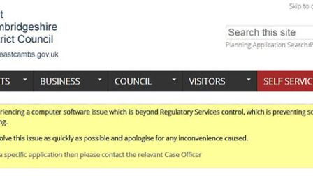 East Cambs Council apology on their website over access to planning documents