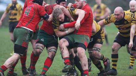 Action from Ely Tigers' 36-17 defeat to Harlow. Photos: Steve Wells