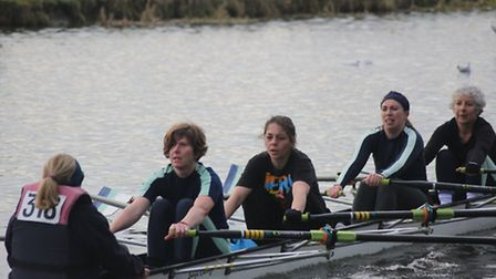 The Isle of Ely women's quad at the Cambridge Winter League.
