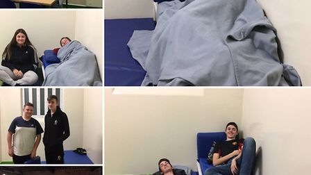 Volunteer police cadets spend a night in the cells for charity.