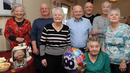 Mary Pedley and her family. Photo: Rob Morris