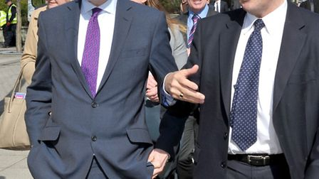 Secretary of State for Communities and Local Government Greg Clark MP. Visit to Wisbech last year. L