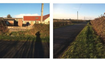 Existing Gateway & View to CornerNew House - Sunnycroft Grunty Fen Road, Witchford