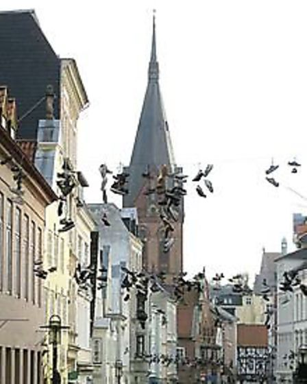Shoe street in Flensburg, Germany, Could this have inspired the shoe tree in Soham?