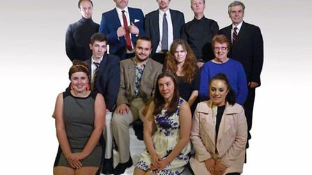 The cast of 'One Man Two Guvnors'.