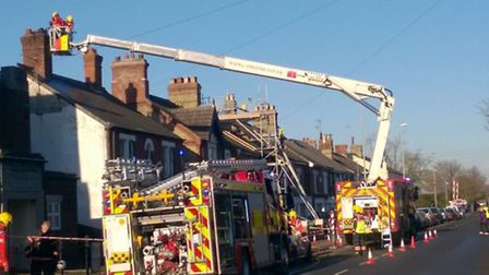 Crews on scene of chimney fire on Station Road, March