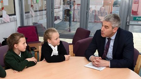 Steve Barclay MP visits Orchard Primary School, Wisbech for a chat with the school council