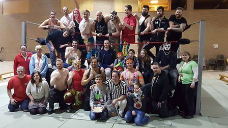 Stars at the Christmas charity wrestling match in Littleport for Little Miracles